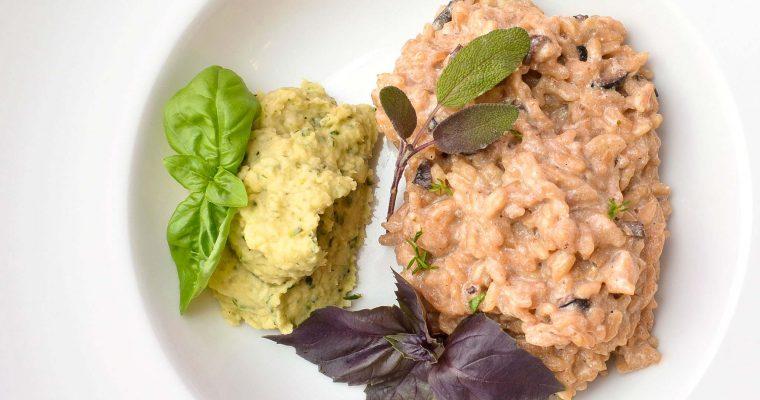 Oliven-Risotto mit Bohnenpaste