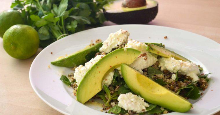 Quinoa-Salat mit Mungobohnen und Avocado